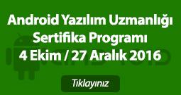 Android Yazılım Uzmanlığı Sertifika Programı